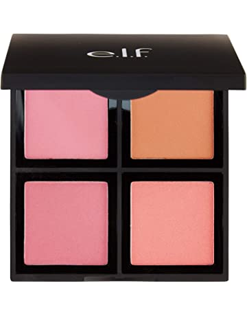 ad9c3b476 e.l.f. Cosmetics Powder Blush Palette, Four Blush Shades for Beautiful,  Long-Lasting Pigment