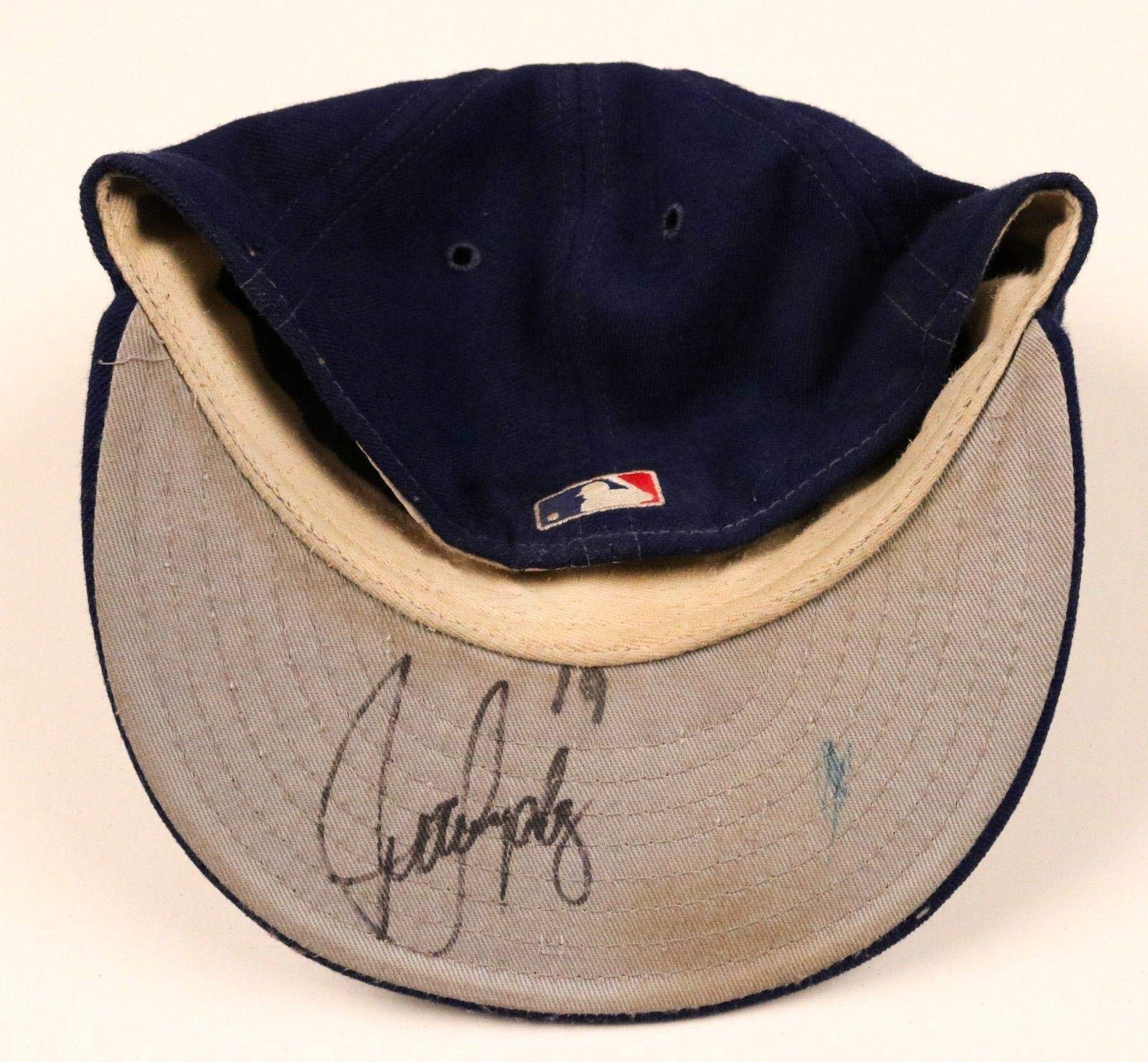 Juan Gonzalez Rangers Signed Game Used Worn Hat/Cap Game Used MLB Hats