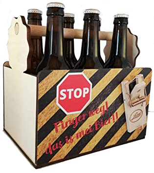 Männerhandtasche Bier Scherzartikel Bierträger Geschenkidee Mann Flaschenträger