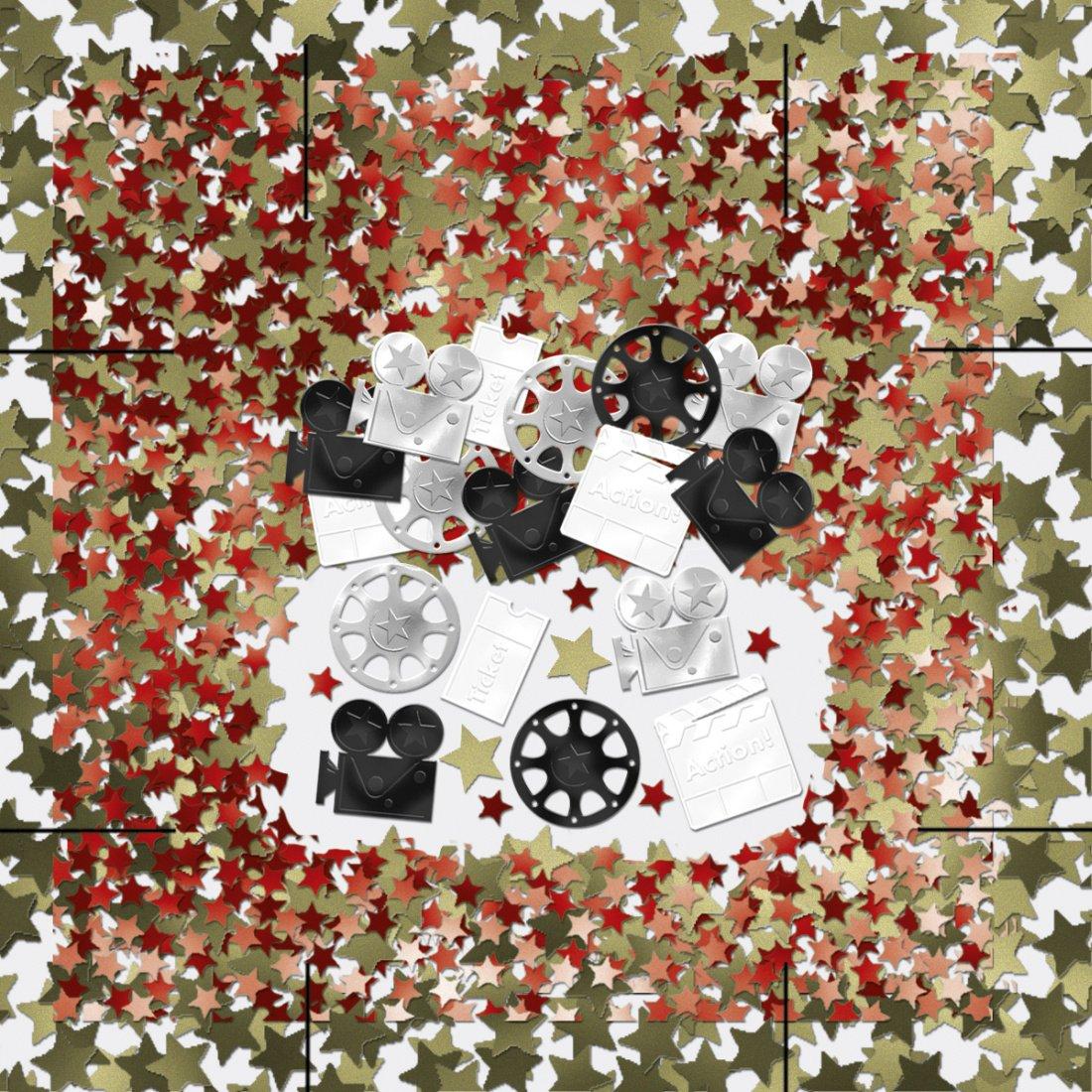 Hollywood confeti película Party mesa confeti Fiesta Confeti ...