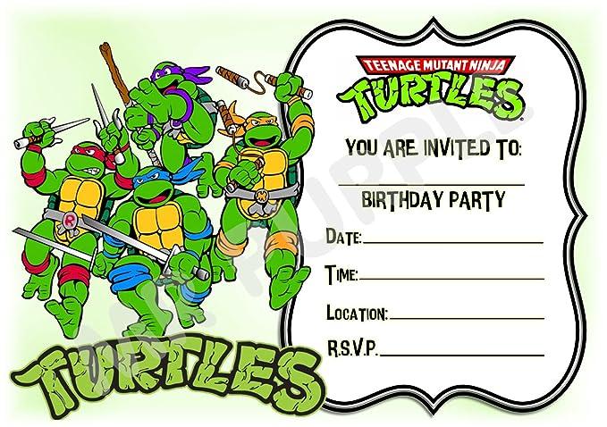 Superhéroe Teenage Mutant Ninja Turtles diseño de cumpleaños ...