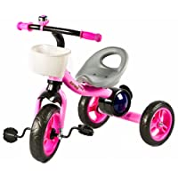 Baybee Octroid Tricycle Kid's Trike Baby Tricycle/Bicycle with Basket & Musical Kid's Ride on Outdoor   Suitable for Boys & Girls-(1 to 5 Years)- Pink