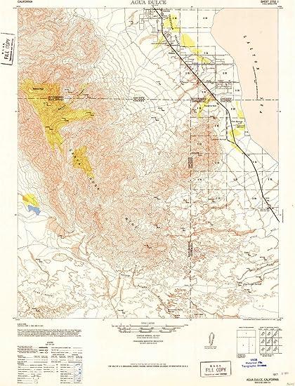 Agua Dulce California Map.Amazon Com Yellowmaps Agua Dulce Ca Topo Map 1 62500 Scale 15 X