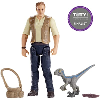 "Jurassic World Basic Figure Owen & Baby ""Blue"": Toys & Games"