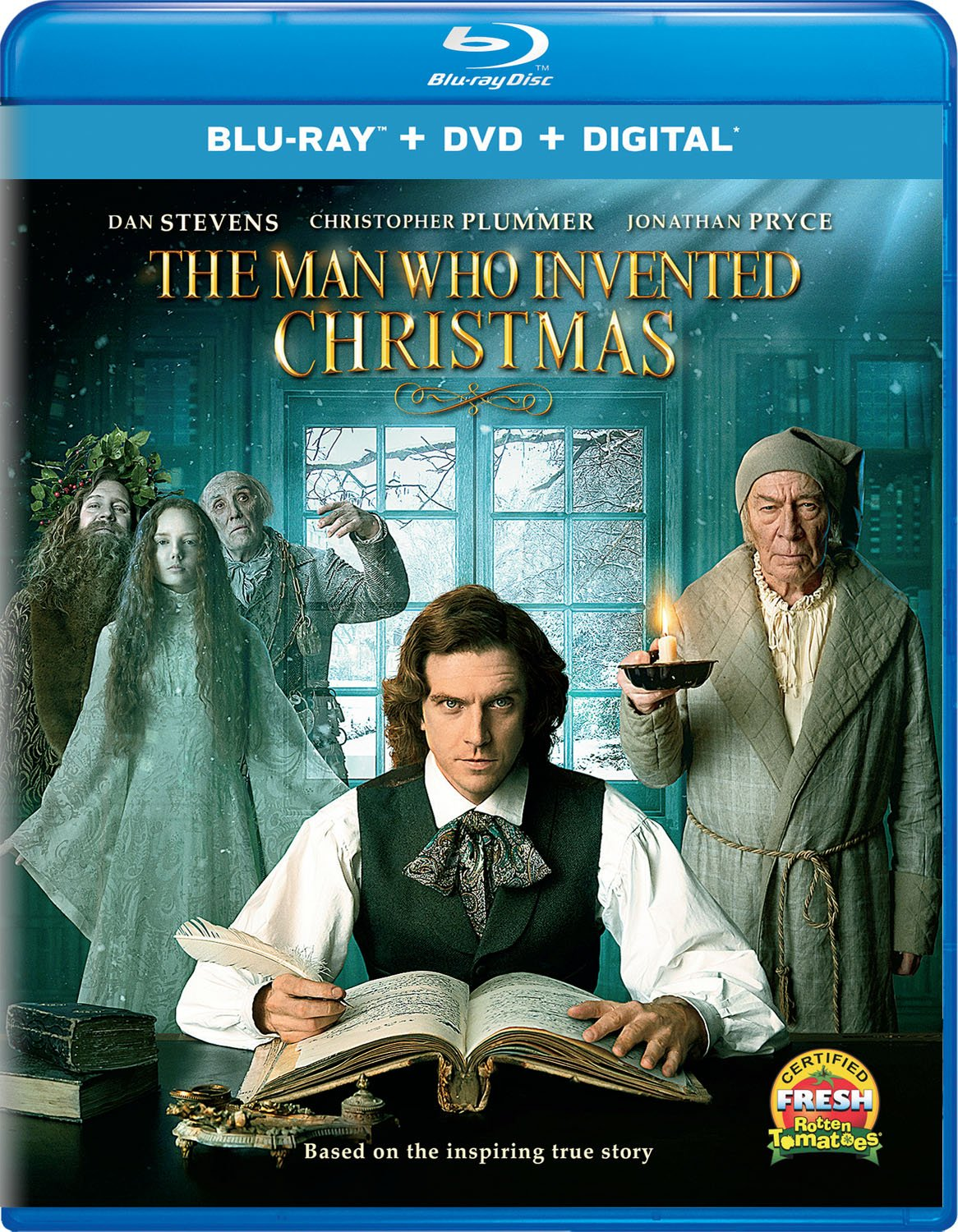 amazon com the man who invented christmas blu ray dan stevens