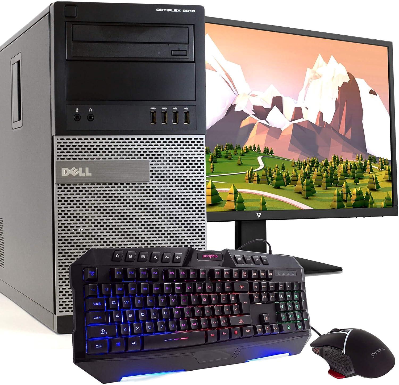 Dell OptiPlex 9010 MT PC Desktop Computer, Intel i5-3470 3.2GHz, 8GB RAM, 500GB HDD, Windows 10 Pro, New 23.6