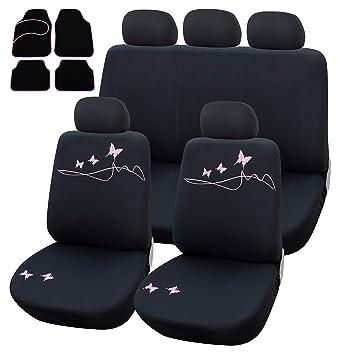 Universal Autositzbezüge Schwarz für Volkswagen Bora Sitzbezüge Set Schonbezug