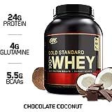 Optimum Nutrition 欧普特蒙 黄金标准 乳清蛋白粉,巧克力椰子味,5磅(2.27kg)