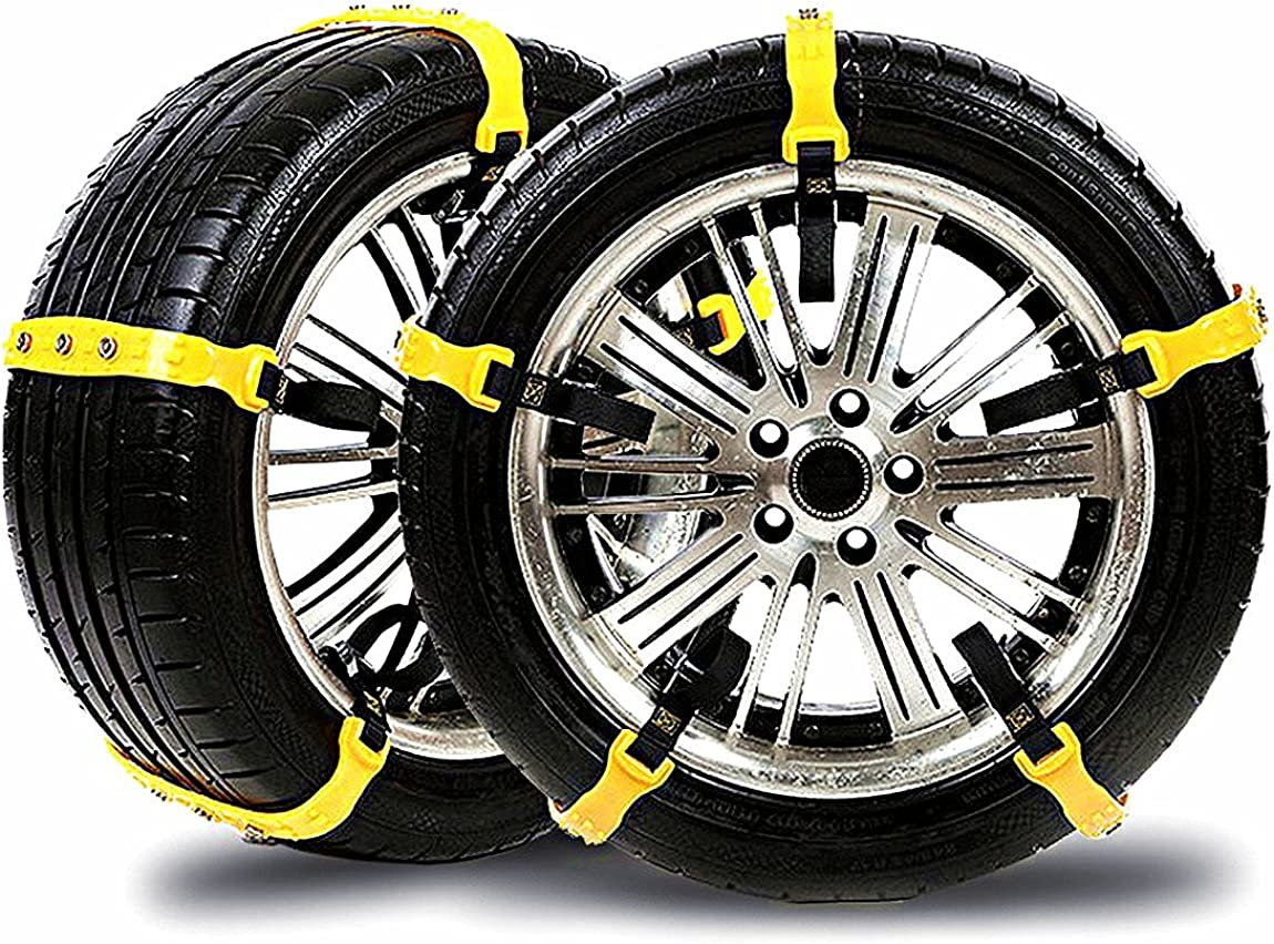 Snow chains001 Snow Chains Car Anti Slip Tire Chains Adjustable Anti-Skid Chains Car Tire Snow Chains Fits for Most Car//SUV//Truck-Set of 10 Width 185-295mm//7.2-11.6
