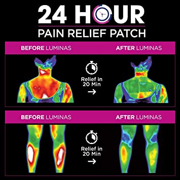 Amazon.com  LUMINAS Pain Relief Patches (24 Pack) Up to 24 Hours of ... 0c22f0d6748c2