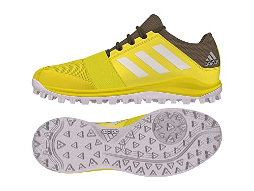 50ef8876c Adidas - Hockey Divox 1.9S Shoes - Yellow White (2018 19) - 5.5 UK  Amazon. co.uk  Shoes   Bags
