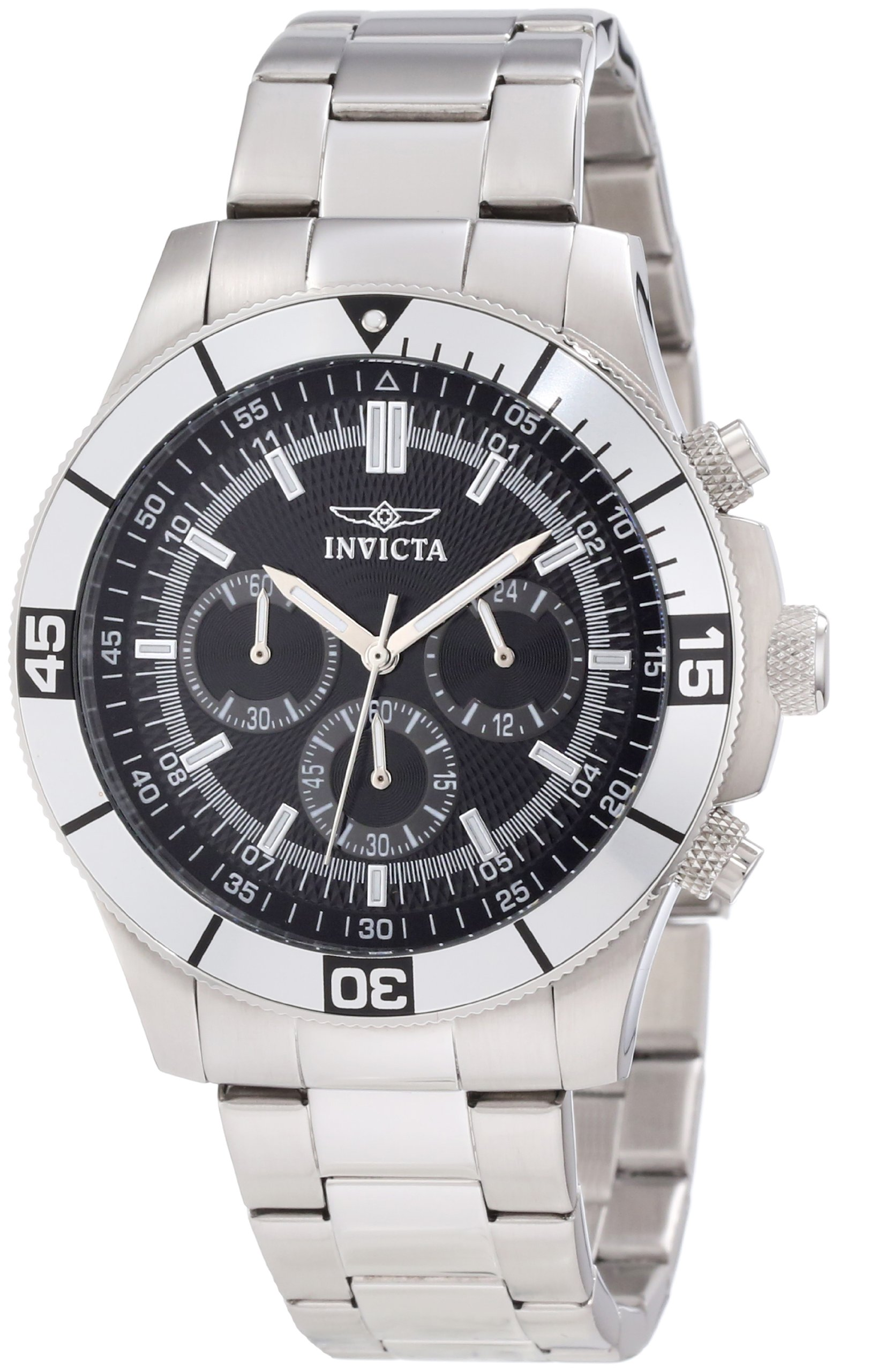 Invicta Men's 12839 Specialty Chronograph Black Dial Watch