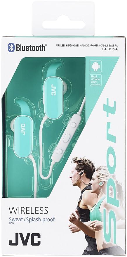 JVC HA-EBT5-P - Auriculares intraaural (Bluetooth, batería Recargable, Control Remoto, Alcance máximo de 10 m) Blanco y Rosado: Amazon.es: Electrónica