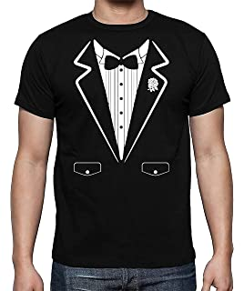 68049b66579c Mens Black Tuxedo T Shirt Funny Lazy Wedding Fake Suit Fancy ...