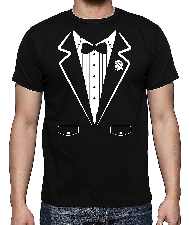 Tuxedo Funny Wedding Party Bow Tie Costume Premium Men's Shirt