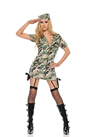 e6d2d386cc941 Image Unavailable. Image not available for. Color: Private Time Sexy  Military Girl Costume (Camouflage ...