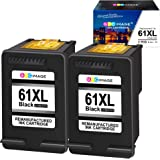 GPC Image Remanufactured Ink Cartridge Replacement for HP Ink Cartridge 61 61XL Ink to use with Envy 4500 Envy 5530 5535 Desk