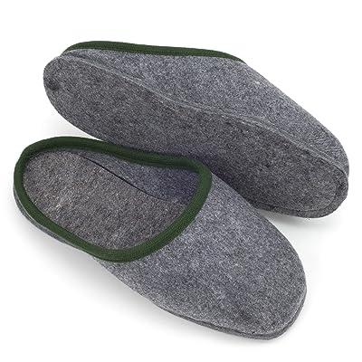 Acerca de abrigo zapatilla de zapatos de trabajo con suela de fieltro