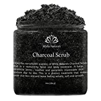 Activated Charcoal Scrub By White Naturals:Face & Body scrub, Reduces Wrinkles,Blackheads...