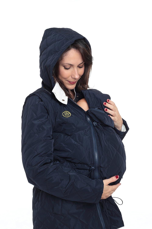 talla S Abrigo de Porteo y Maternidad Multifuncional Amarsupiel 5 en 1 color Azul marino 36-38