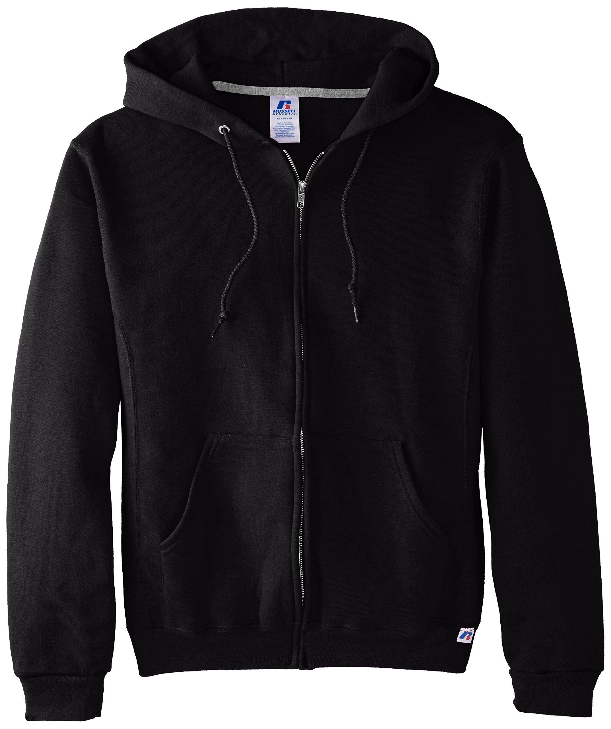 Russell Athletic Men's Dri Power Full Zip Fleece Hoodie, Black, XXX-Large by Russell Athletic