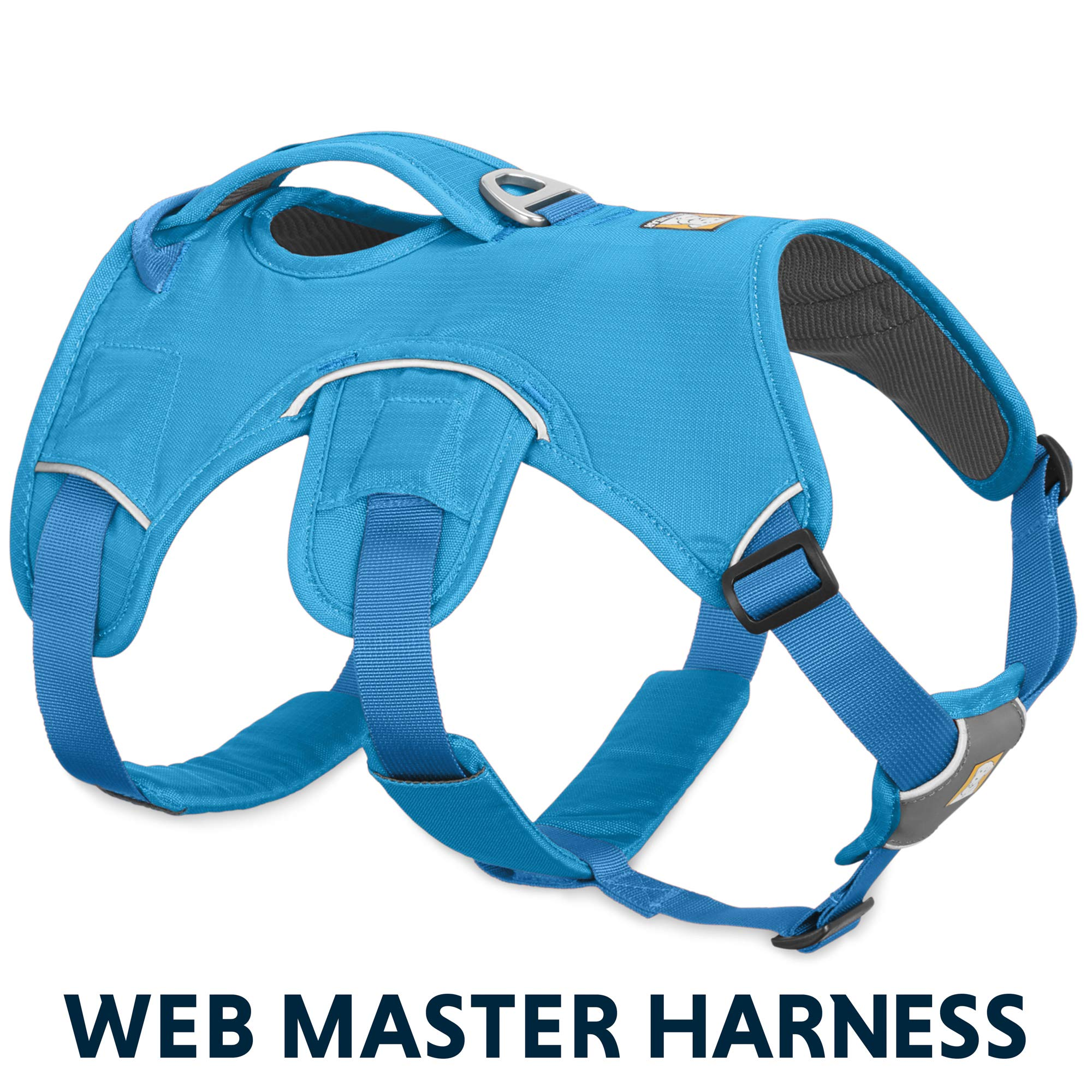 RUFFWEAR - Web Master, Multi-Use Support Dog Harness, Hiking and Trail Running, Service and Working, Everyday Wear, Blue Dusk, Large/X-Large