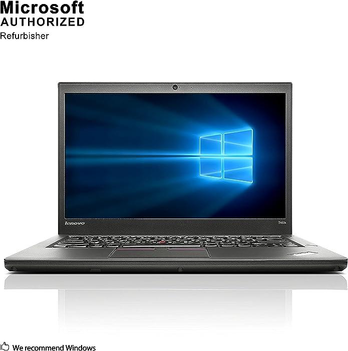 Lenovo ThinkPad T450s 14 Inch Business Laptop, Intel Core i5-5300U up to 2.9GHz, 8G DDR3L, 240G SSD, VGA, Mini DP, Win 10 Pro 64 Bit Multi-Language Support English/French/Spanish(Renewed)