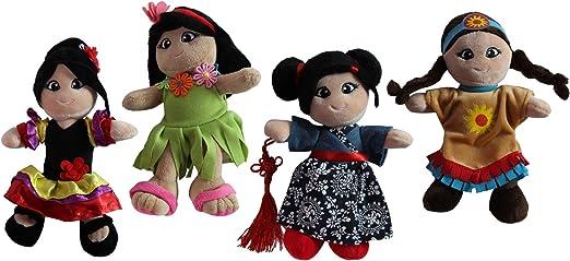 Amazon.com: Felpa suave todo el mundo muñecas 8
