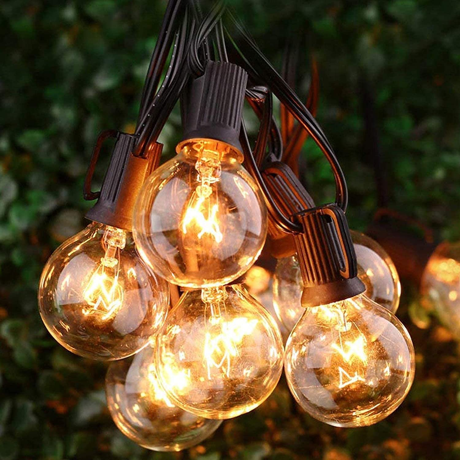 String Lights, Silikang 25Ft G40 GlobeWaterproof String Light with Bulbs-UL Listd for Indoor/Outdoor Commercial Decor Use WeatherproofLight Tents Market CafePorch BackyardBistroParty