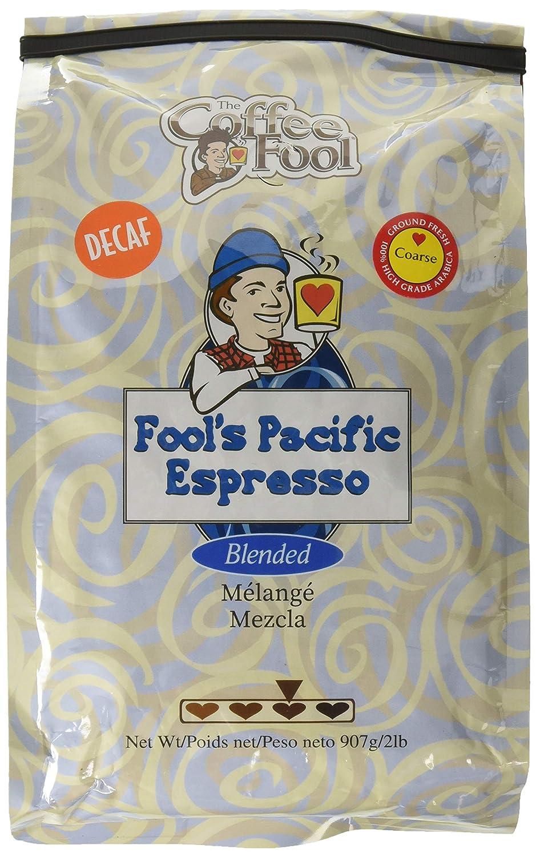 The Coffee Fool Coffee Fool's Decaf Pacific Espresso Ground Coffee, Coarse Grind, 2 Pound 81WnVaF3IIL._SL1500_