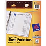 "Avery Standard Weight Clear Sheet Protectors, 8.5"" x 11"", Acid-Free, Archival Safe, Top Loading, 25ct (75530)"