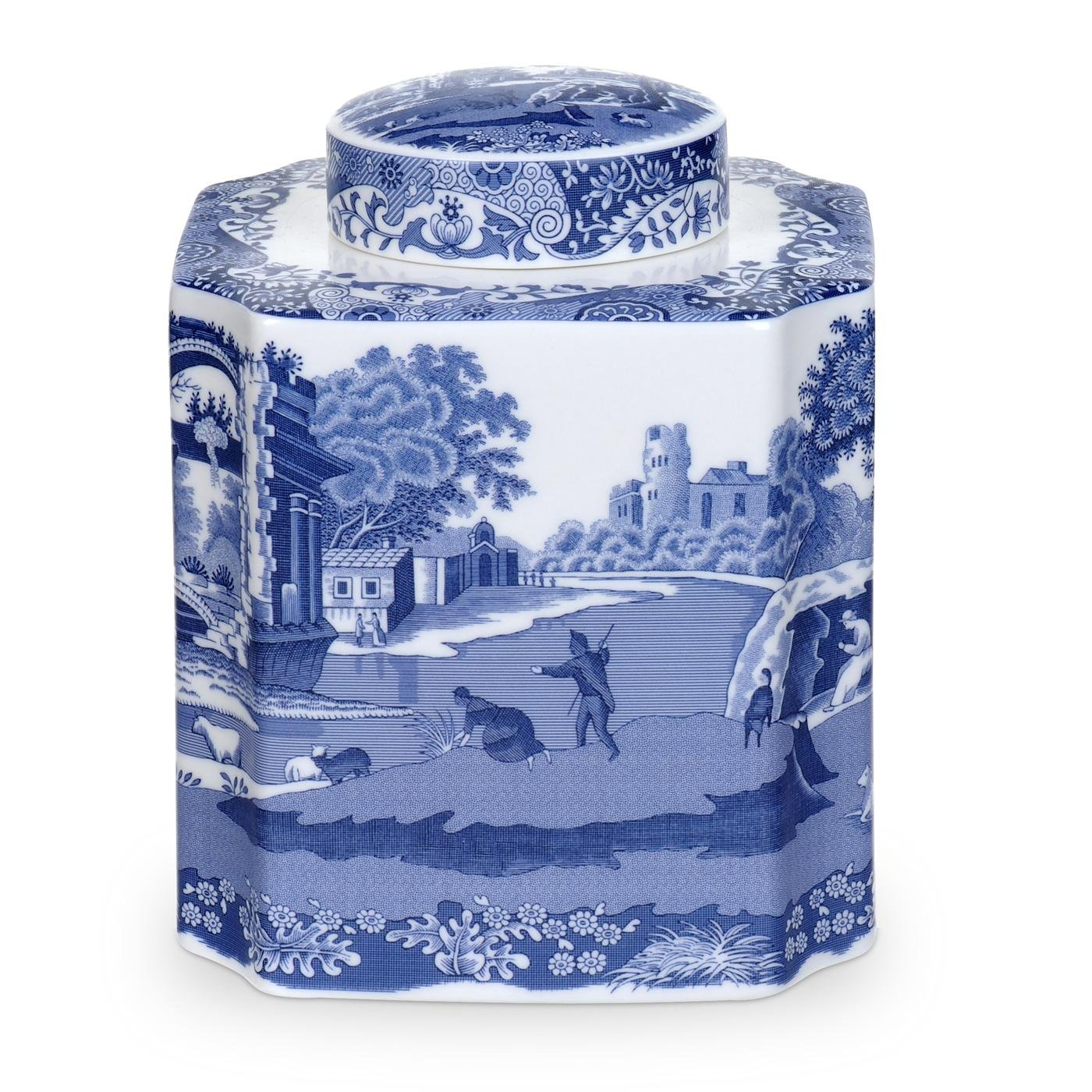 Blue Italian Tea Caddy by Spode