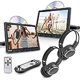 Universal Car Headrest Mount Monitor - 9.4 Inch Vehicle Multimedia CD DVD Player - Dual Audio Video Entertainment w/HDMI…