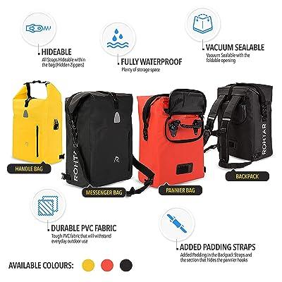 Touchscreen Phone Holder Bag for Smart Phones within 6.5 Inch izosen Bike Handlebar Bag Waterproof Bicycle Frame Pouch Bag