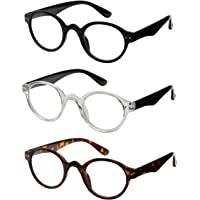 73a375e2b3 Reading Glasses 3 Pair Spring Hinge Professer Readers for Men and Women  Fashion Glasses for Reading