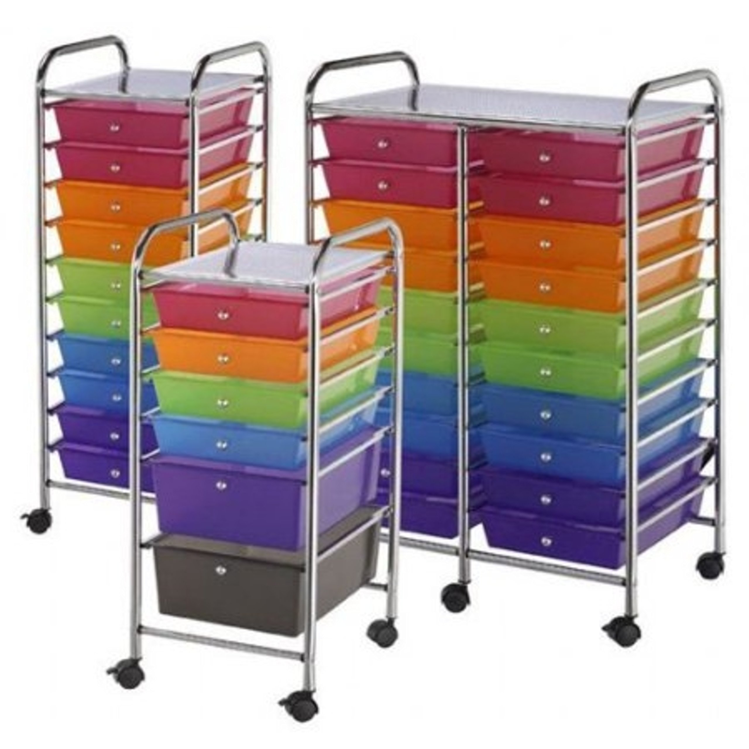 10 Pull Out Multicolored Storage Drawers Steel Frame Mobile Organizer by Storage Drawers (Image #3)