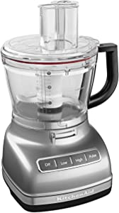 KitchenAid KFP1466CU 14-Cup Food Processor with Exact Slice System and Dicing Kit - Contour Silver