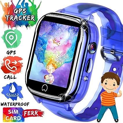 Amazon.com: AMENON - Reloj inteligente para niños con GPS ...