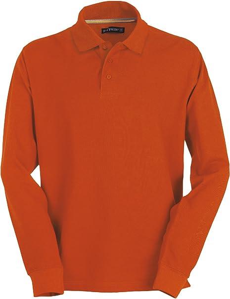 TALLA XL. Payper - Polo de manga larga para hombre, 100% algodón, 3 botones, para hombre