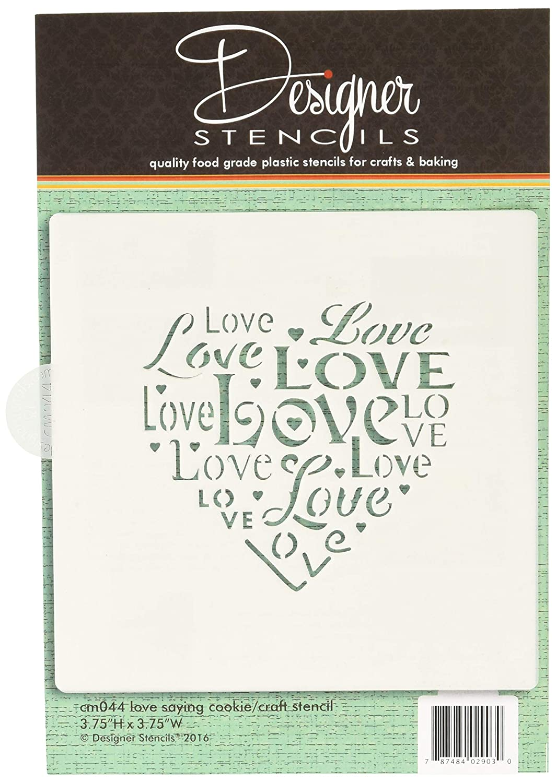 Love Saying Cookie and Craft Stencil CM044 by Designer Stencils