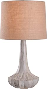 Kenroy Home 35243WW Calypso Table Lamps, Medium, Weathered White
