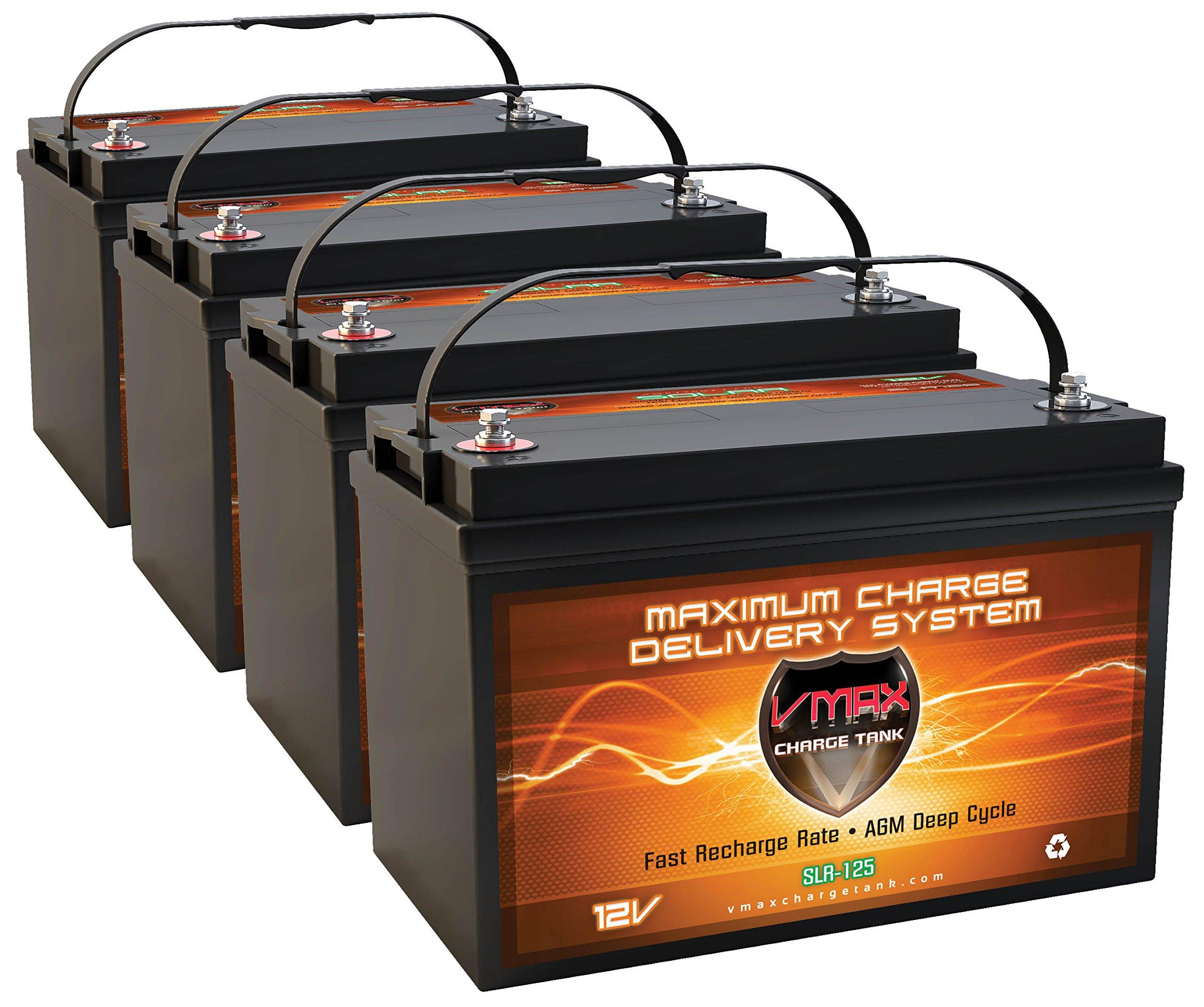 VMAX Solar VMAXSLR125-4 AGM Solar Battery (4 x SLR125 VMAX Batteries) by VMAX Solar