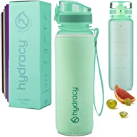 Hydracy Water Bottle with Time Marker - Large BPA Free Water Bottle - Leak Proof & No Sweat Gym Bottle with Fruit…