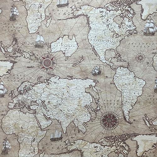 Prestigious Quot Atlas World Map Quot Antique Designer Curtain