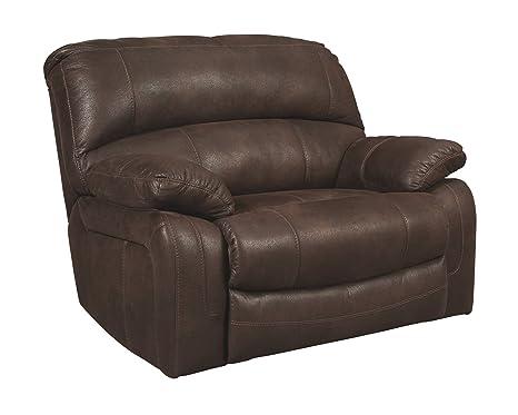 Ashley Furniture Signature Design - Zavier Oversized Recliner -  Contemporary Reclining Sofa - Truffle