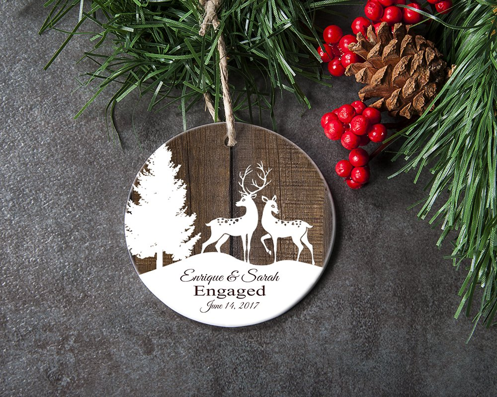 christmas ornament engagement