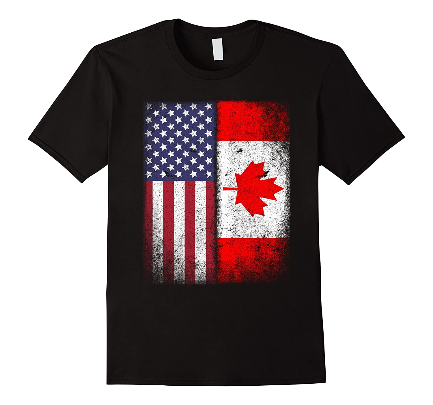 American Canadian Flag T-shirt Canada Pride Heritage Tee-CD