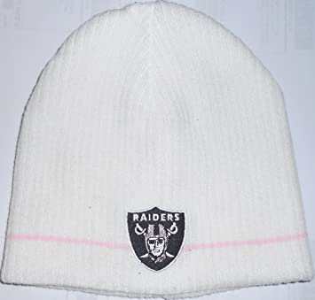 Image Unavailable. Image not available for. Color  Oakland Raiders NFL  Womens Pink Stripe Winter Beanie Cap Hat b26ba0349