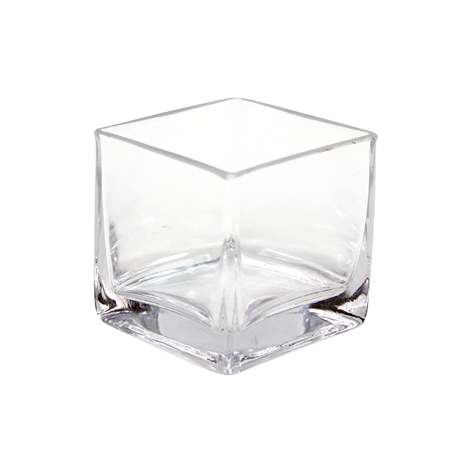 Amazon koyal wholesale 404342 12 pack cube square glass vases amazon koyal wholesale 404342 12 pack cube square glass vases 3 by 3 by 3 inch kitchen dining reviewsmspy