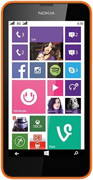 Nokia Lumia 630 Dual-SIM Smartphone 11,4 Cm Orange: Amazon.de ...